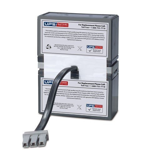 RBC33 Compatible UPS Battery Pack for APC Back-UPS RS 1500VA BR1500 Replacement by UPSBatteryCenter