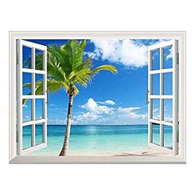 Removable Wall Sticker Wall Mural Beautiful Tropical View...