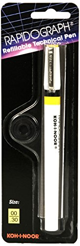 Koh-I-Noor Rapidograph Technical and Artist Pen.30mm Nib, 1 Each (3165.ZZ) (Koh I Noor Rapidograph Pen Set)