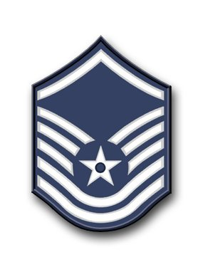 Magnet US Air Force Master Sergeant (No Diamond) Vinyl Magnet Military Veteran Served Car Bumper Sticker Magnetic Vinyl 3.8""