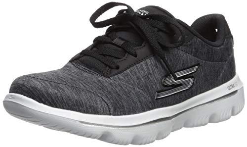 Skechers Women's GO Walk Evolution ULTRA-15756 Sneaker, Black/White, 10 M US