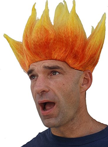 Flame Wig (Flame) (Ghost Rider Mask)