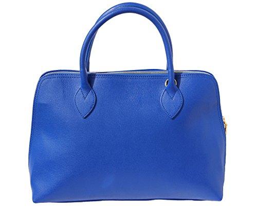 Cuir En Leather Cartable Électrique 308 Femme Business Pour Market Bleu Sac Saffiano Florence qRf8qS