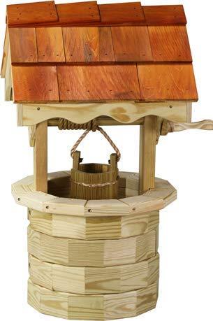 (LuxCraft Garden 3' Wishing Well with Cedar Roof)