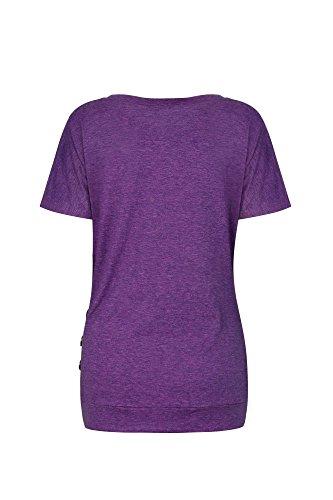 Felpa Porpora02 Casual Maniche Lunghe Shirt Donna Lylafairy Maglietta Camicia T n8UPazT