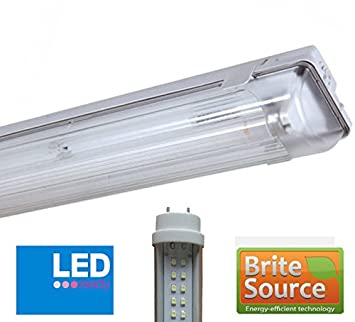 2Ft T8 Fluorescent High Frequency Batten Fitting LED Single Non