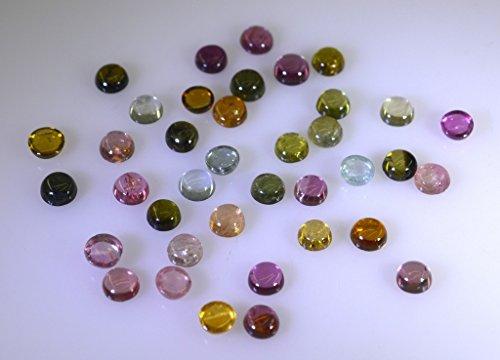 tourmaline pierres précieuses en vrac 1 pièces 4 x 4 mm rondes multiples cabochon pierres précieuses