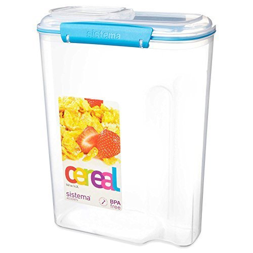 Sistema KLIP IT 4.2 Liter Cereal Container in Blue by Sistema (Sistema Cereal Container compare prices)