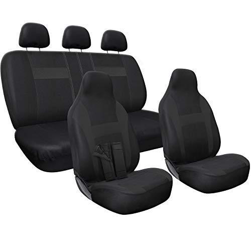 OxGord Juego de poli/éster y Acolchado de Espuma de Asiento Cover Set para Honda Accord Negro