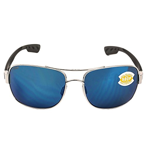 Costa Del Mar Cocos Sunglasses, Palladium, Blue Mirror 580P Lens by Costa Del Mar