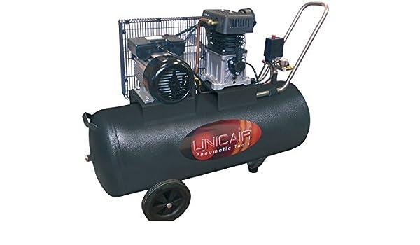 Compresor de aire UNICAIR CC-3/50L. 50 litros 3 HP. Transmisión por correa.: Amazon.es: Bricolaje y herramientas