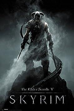 The Elder Scrolls V Skyrim – Framed Gaming Poster Print Dragonborn