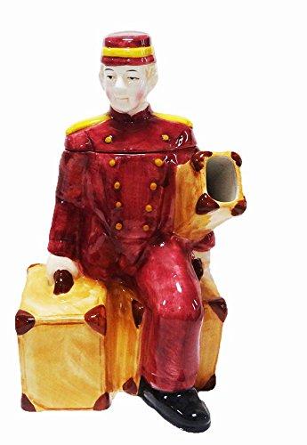 【LINENS'N THINGS】Bell Boy ティーポット 海外輸入品 プレゼント バレンタイン ギフト デザイナー teapot 陶器 Lサイズ 英国製 B06XDJT7LL