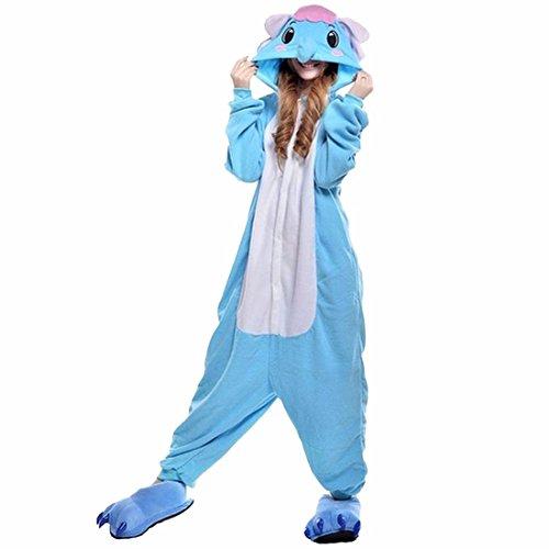 Pigiama Caldo Unisex Fumetto Animale Cosplay Morbido Kigurumi Pigiameria Adulto Costume Elefante Tw6fwq