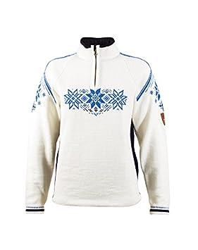 Dale Of Norway - Holmenkollen Women's Sweater, Off White/Navy/Cobalt, M