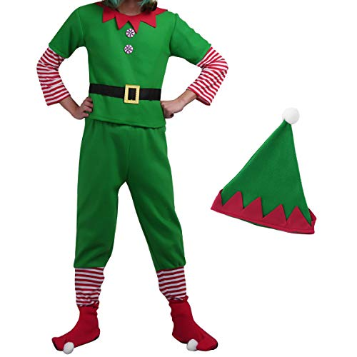 Agoky Men's Elf Costumes Adult Christmas Costume Cosplay