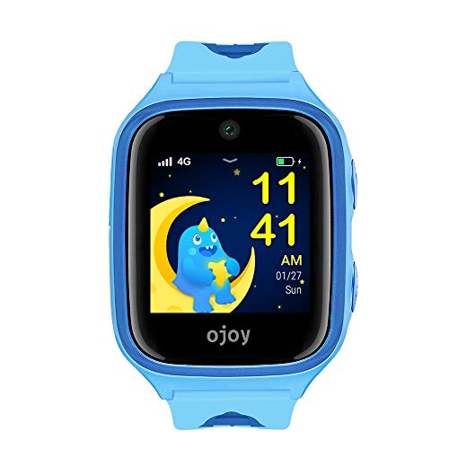 OJOY A1 Kids Smart Watch | IP68 Waterproof Smart Watch for Kids | 4G LTE Watches for Boys and Girls | Safety Gizmo Watch for Kids | Kids GPS Tracker | with iOS & Android App (Blue) - US Warranty