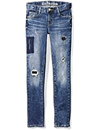 Girls Stretch Denim Skinny Fit Ankle Crop Jean