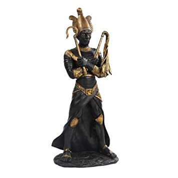 PTC 11 Inch Egyptian Osiris Mythological God Resin Statue Figurine