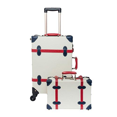 vintage luggage with wheels - 8