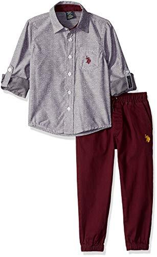 U.S. Polo Assn. Boys Long Sleeve Shirt and Pant Set