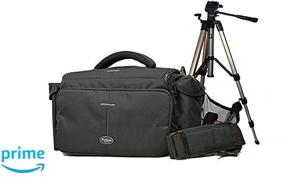 Cámara de Fotos Funda Cámara Bag Action L Set con trípode de Viaje ...