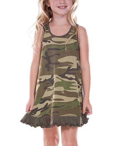 Kavio! Little Girls 3-6X Camouflage A-Line Tank Dress Cam...
