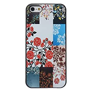 Colorful Flowers Pattern PC Hard Case with Matte Back Cover for iPhone 5/5S