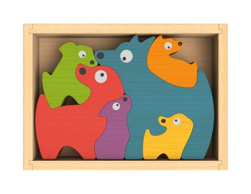 BeginAgain Dog Family Puzzle, Baby & Kids Zone