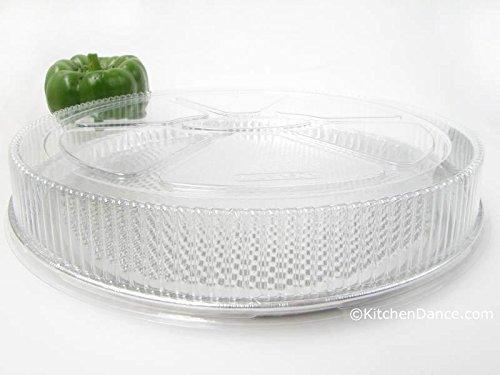 KitchenDance 12'' Disposable Aluminum Foil Pizza Pan with Lid -- #C81P (50)
