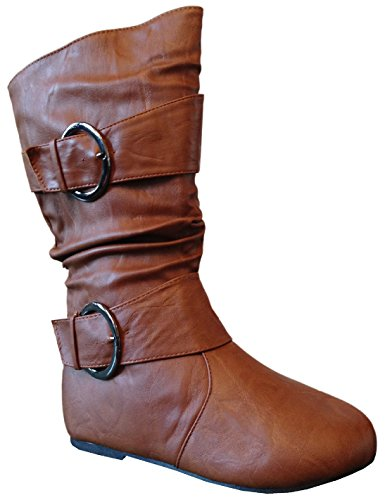 Leather 4 Buckle Boots - 3