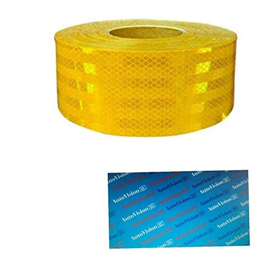 Autovision Imported 50.8 mm (2 Inches) Reflective Tape - 45.72 Meter (150 Ft.) Yellow Roll