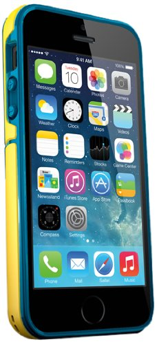 iSkin Exo Case for Apple iPhone 5/5S - Yellow/Blue ()