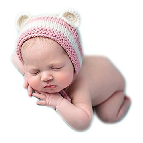 [Luxury Cute Newborn Boy Girl Baby Costume Outfits Photography Props Little Fox Hat (Pink)] (Little Girl Fox Costumes)