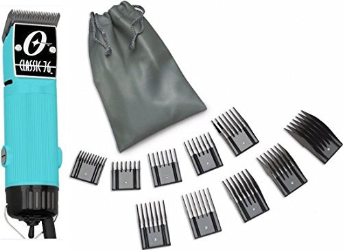 New Oster Classic 76 Aqua Light Blue Limited Edition Hair Clipper+10 PC Comb Set by Oster