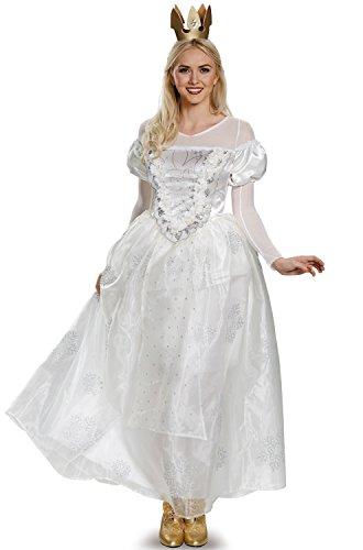 The White Queen Halloween Costumes (Disney Women's Alice Queen Deluxe Costume, White, Small)
