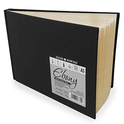 - Daler Rowney Ebony Hardback Landscape Sketchbook A5