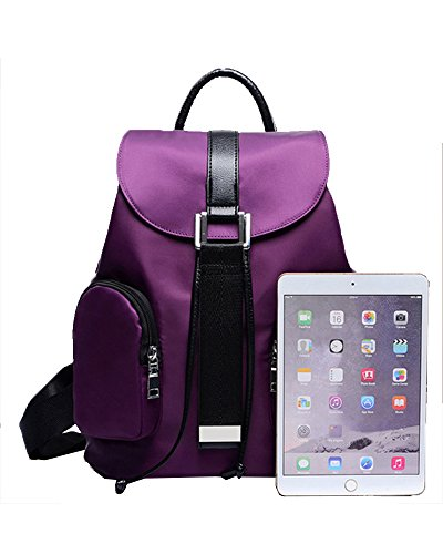 Student Nylon Backpack amp; Purse Rosered Women Wallet Waterproof for Set Cute Travel Handbag 3 Girls Piece Y70qAOq