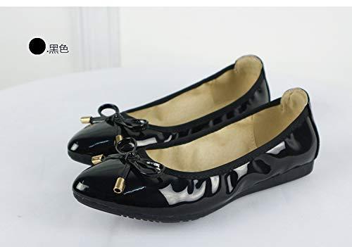 Suave Boca de B Zapatos Apuntó FLYRCX Solos Planos de cómodos Zapatos de Boca Las Baja Embarazadas de Plegables La Zapatos Zapatos Sra la Planos Baile la Mujeres OWwxFw16f