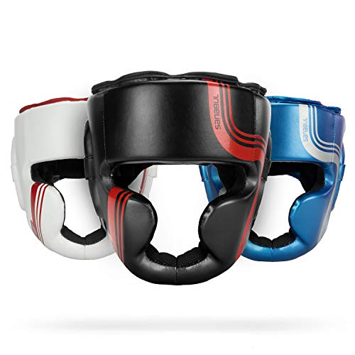 Sanabul Core Series Boxing MMA Kickboxing Head Gear (Black/Red, L/XL)