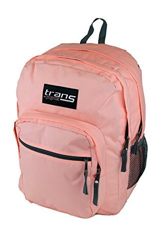 """New Trans by JanSport SuperMax 15"""" Laptop Backpack - Coral P"""