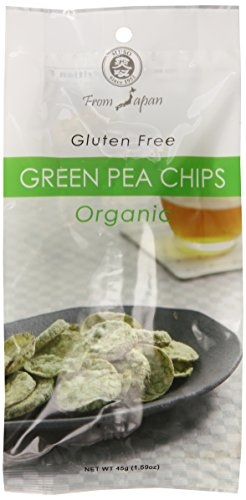 Muso From Japan Organic Chips, Gluten Free, Green Pea, 1.59 Ounce (Pack of 20)