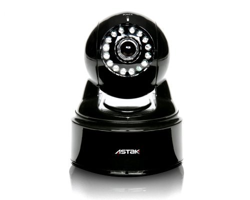 Astak Pan/Tilt Wifi IP Wireless Network Surveillance Camera with Audio, Night Vision and Remote access, Model: CM-MOLE, Electronics & Accessories Store Astak Pan