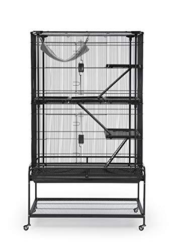 Chinchilla Rat Cage - Prevue Pet Products Deluxe Critter Cage 484B, Black