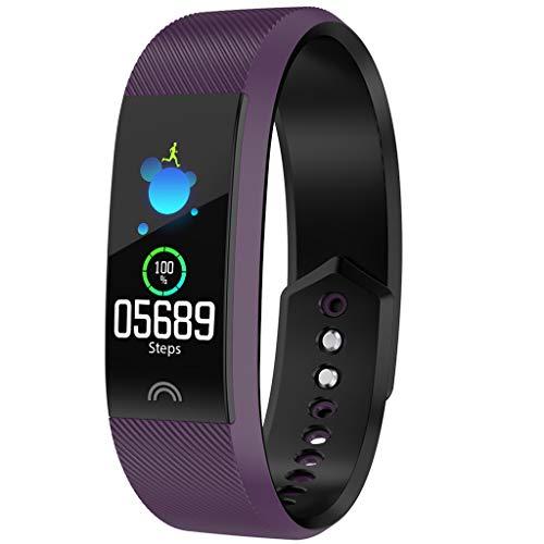 Orcbee  _Smart Bracelet Sports Fitness Activity Heart Rate Tracker Blood Pressure Bracelet (Purple)