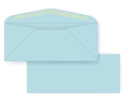 amazon com 10 regular envelope pastel 24 light blue 4 1 8 x