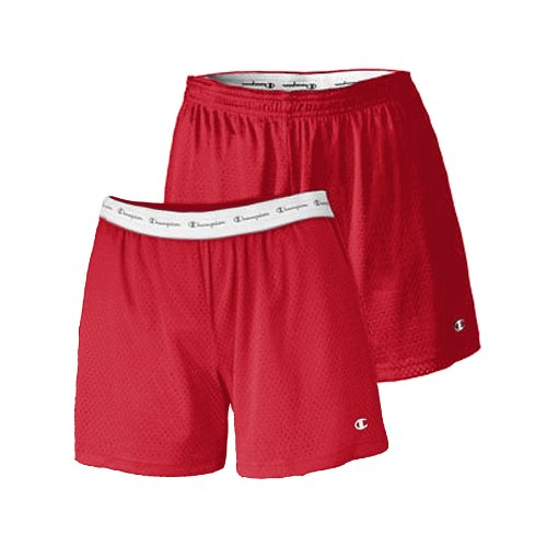 Champion Women's Active 5' Mesh Short_Scarlet_2XL