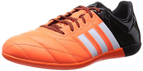 adidas Ace 15.3 IN Leather - Botas para hombre Naranja / Negro / Blanco