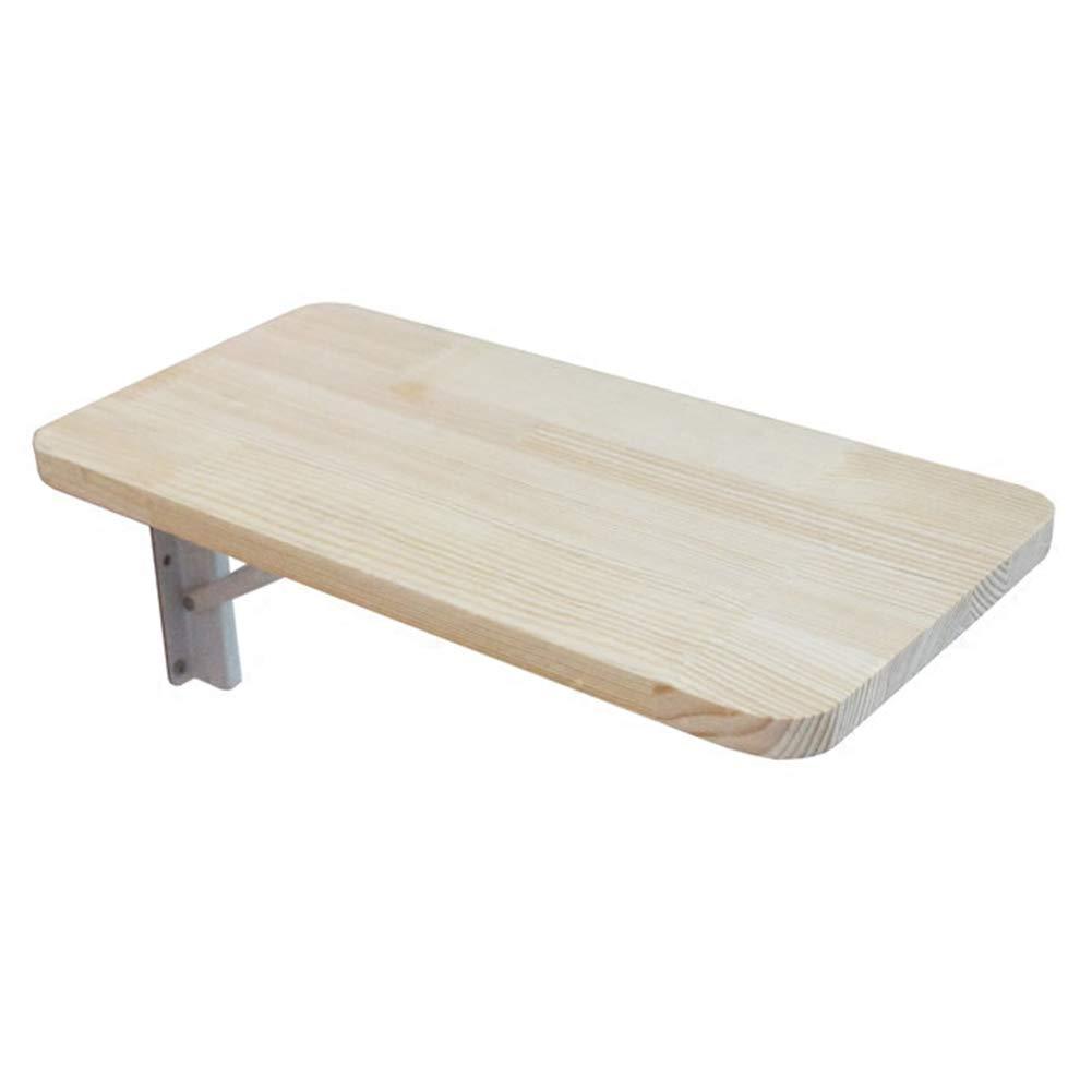 Mesa de pared plegable de pared abatible de madera maciza, mesa de ...