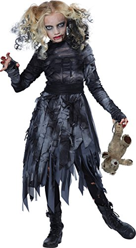 California Costumes Zombie Girl Child Costume, -